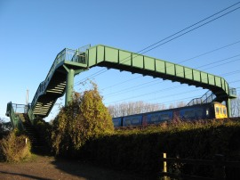 Footbridge over the railway