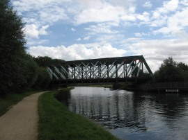 Rail bridge over the Cam
