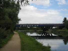 The A14 road bridge