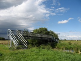Footbridge across Braham Dock