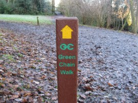 Typical Green Chain Walk marker post