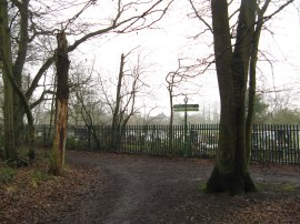 The junction of the paths