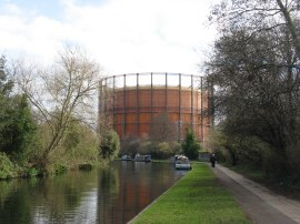 View back to Kensal Green Gasworks