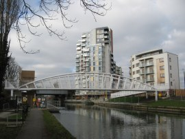 New canalside housing in Alperton