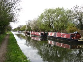 Moorings besides the Canal nr Iver