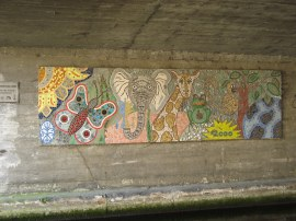 Mural under the A4020, Uxbridge