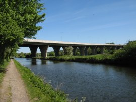 The M25 Roadbridge nr Kings Langley