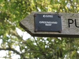 Greensand Way Marker, Surrey style