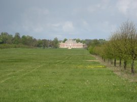 Approaching Wimpole Hall