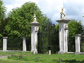 Entry gates to Wimpole Hall