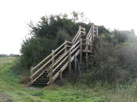 Steps up to Fleam Dyke