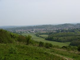 View towards Dorking