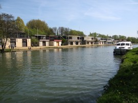 Oxford University College boat houses