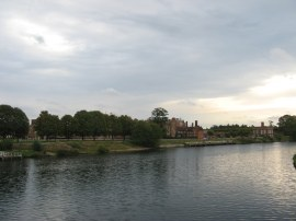 View over to Hampton Court Palace