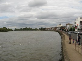View down the Thames at Mortlake