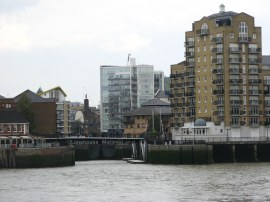 View over to Limehouse Basin