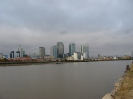 View over to Canary Wharf