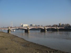 View down to Lambeth Bridge