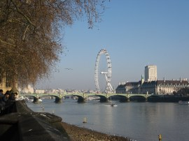 View towards Westminster Bridge