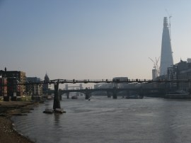 View towards the Millennium Bridge