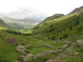 View back down to Borrowdale