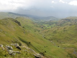 View down to the Easedale Valley