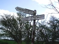 Signpost to Therfield
