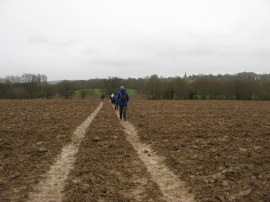Ploughed field on the way to Hartfield