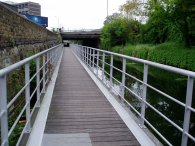 Walkway besides the Limehouse Cut