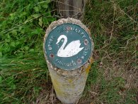 Upper Lea Valley through walk signpost