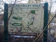 Lea Valley Walk information board, Holwell Court