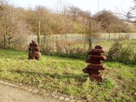 Pathside sculptures
