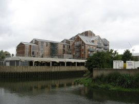 New housing, Three Mills Island