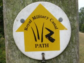 Royal Military Canal Way Marker
