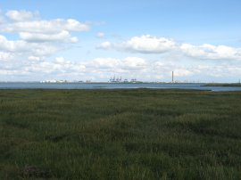 View towards the Isle of Grain