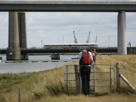 Approaching the Sheppey Crossing