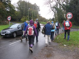Setting off from Limpsfield Chart