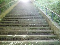 Steps leading to the Drop Redoubt Fort
