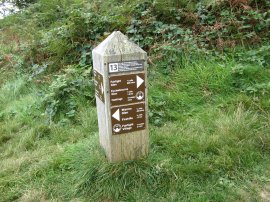 Way Marker, Hastings Country Park