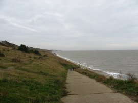 View back to Herne Bay