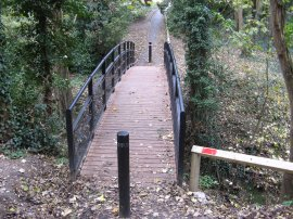 Footbridge over Bishopstone Glen