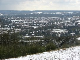 View over Dorking
