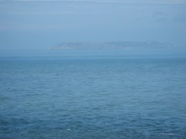 A rather hazy view of Lundy Island