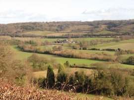 View over the Darent Valley