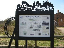 Miner's Way Information Board