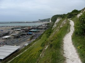 Path above Dover Eastern Docks