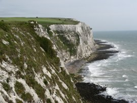 White Cliffs of Dover by Langdon Bay