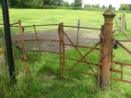 Rusty Gate by Brook Road