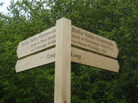 One of the new walk signposts