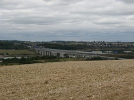 View back to the Medway Bridge